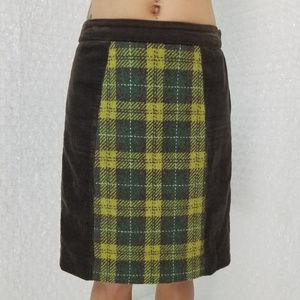 "Anthropologie ▪ Maeve ""swathe"" corduroy mini skirt"